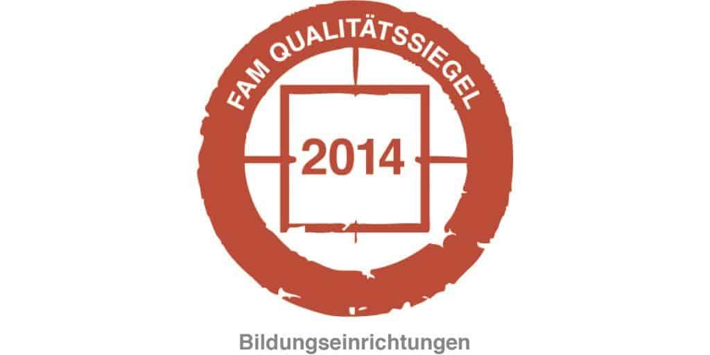 FAM Qualitätssiegel 2014 Bildungseinrichtungen Blattwerk Media