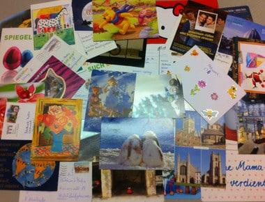 Mein Adventsheft! Gewinnspiel Briefe und Postkarten