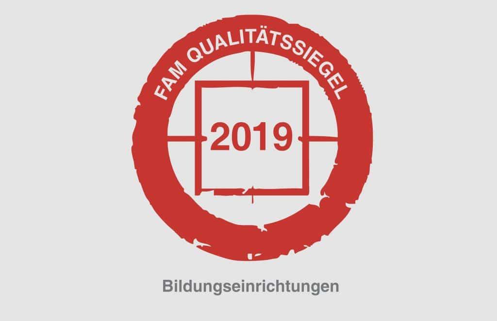 FAM Qualitätssiegel 2019 Bildungseinrichtungen Blattwerk Media