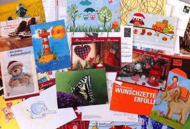 Mein Adventsheft Gewinner Einsendungen , Postkarten und Briefe