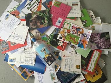 Mein Adventsheft Gewinnspiel Briefe und Postkarten