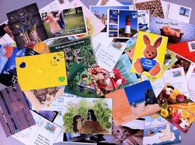 Mein Ferienheft Gewinnspiel Einsendungen Postkarten und Briefe