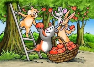 Illustration Nagerbande Vitakraft mit Tieren