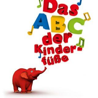Das ABC der Kinderfüße mit rotem Elefanten